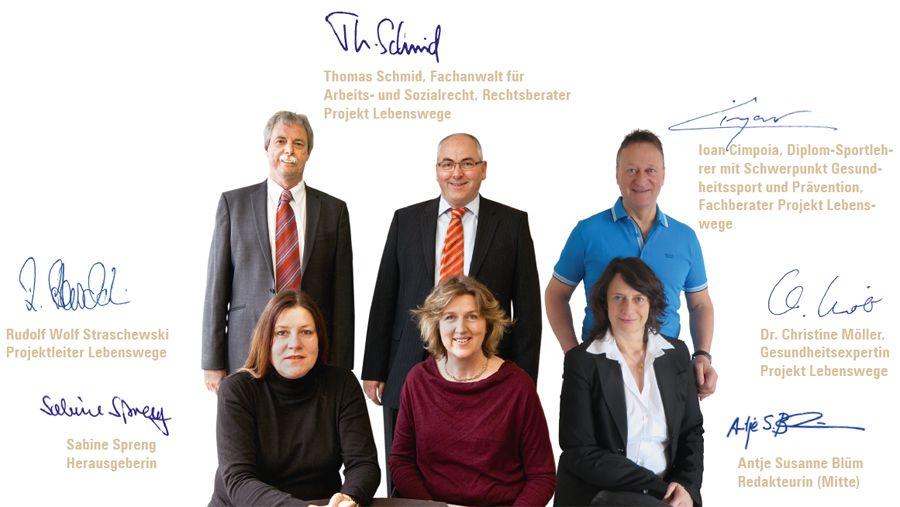 Das Team von Projekt Lebenswege